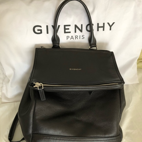e9faf0ce6909 Givenchy Handbags - Black Givenchy Pandora backpack in calf leather.